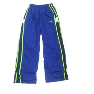 Nike Neon Blue Track Basketball Sweatpants